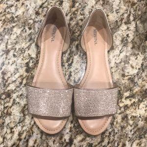 Rose gold summer sandals